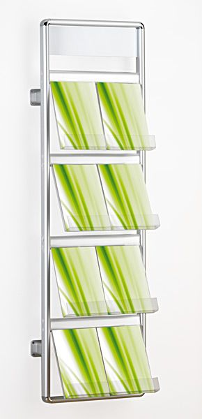 Wall Mounted Literature Rack And Brochure Holder Www Discountdisplays Co Uk Brochure Holders Brochure Display Rack Design