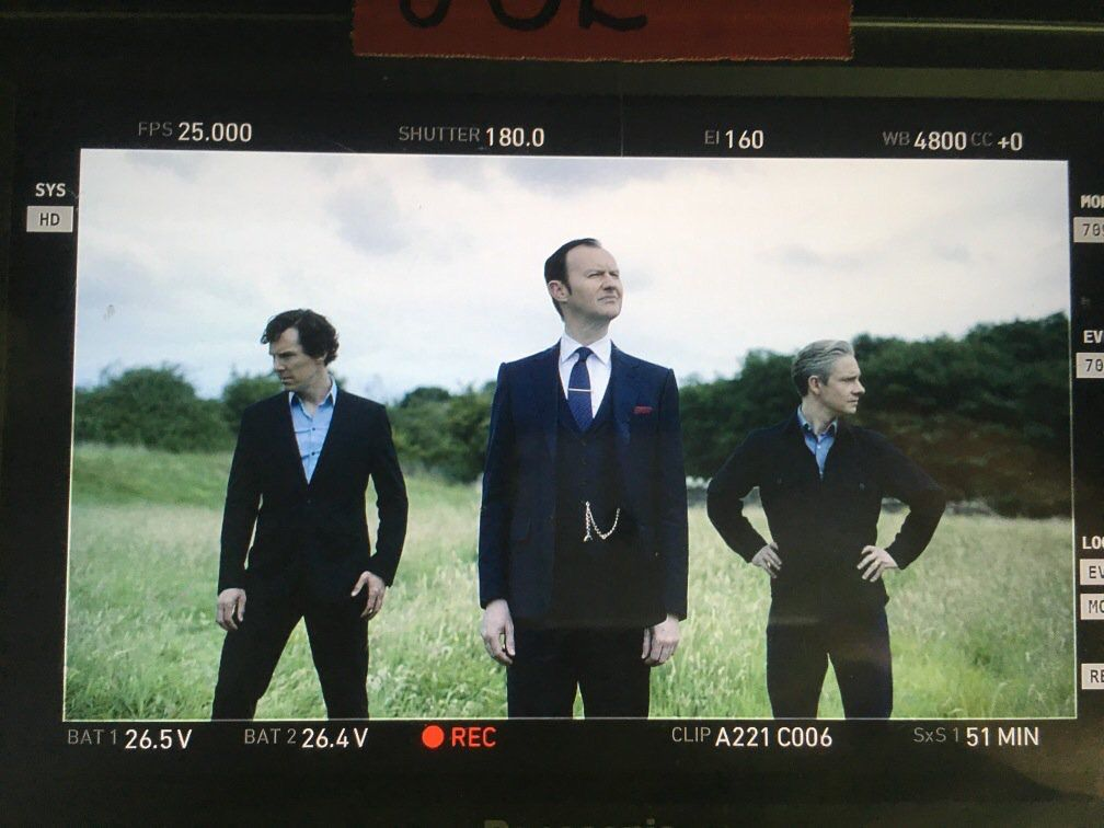 Sherlock season 4. They look like they are doing a music video doesn't it? Put in the comments what song you think they are doing below!