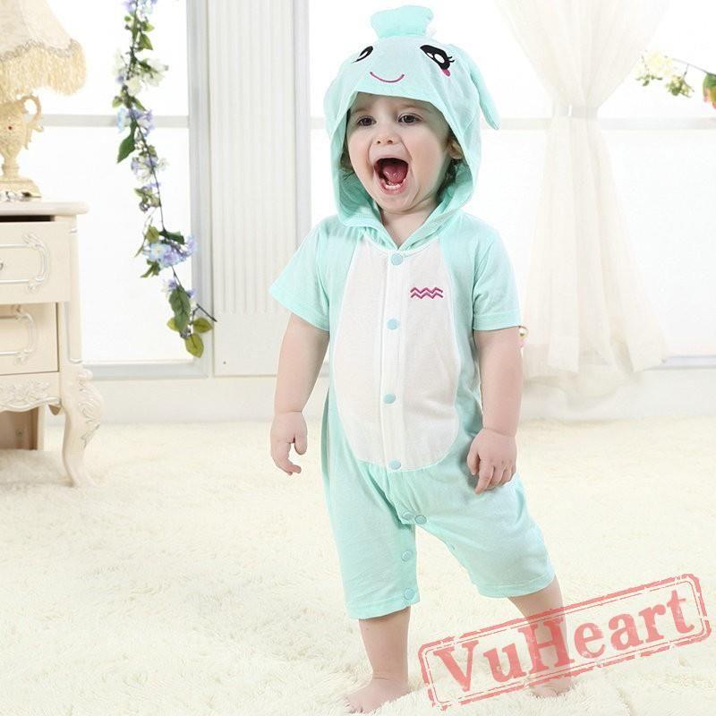 05c6eaf9a60e Aquarius Zodiac Blue Kigurumi Onesies Pajamas Costumes Summer ...