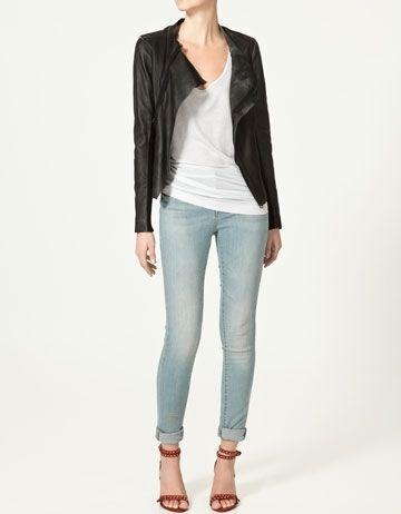 LEATHER JACKET - Jackets - Woman - New collection - ZARA United States - StyleSays