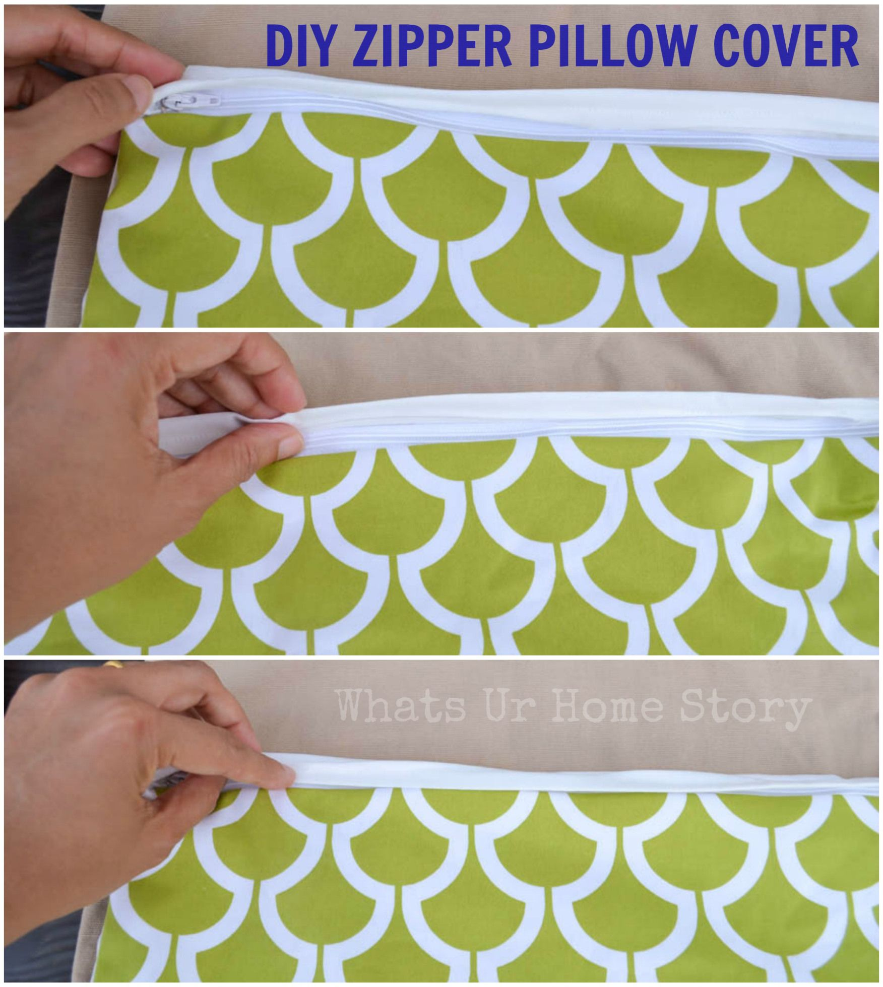 zipper pillow cover diy