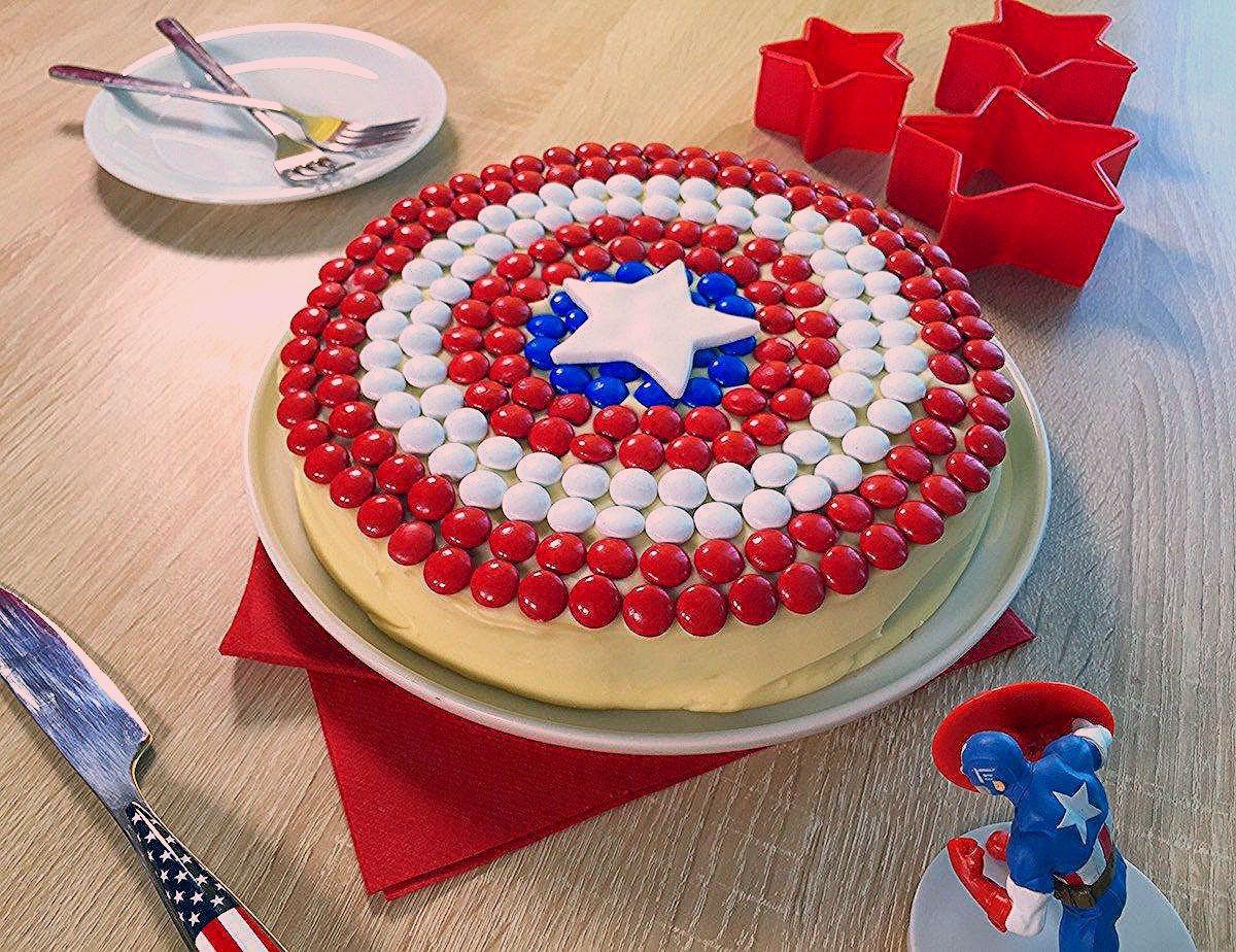 Gateau Captain America America Cake Captain America Cake Easy Cake Decorating