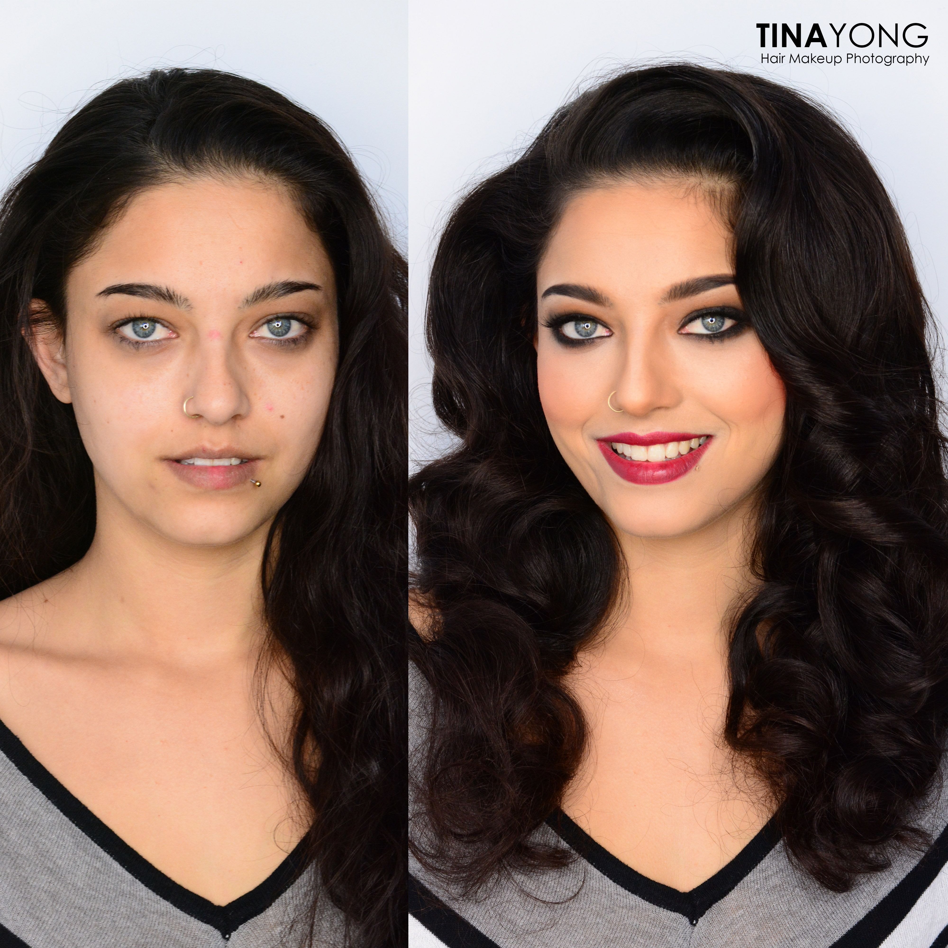 Before & After Makeup-Makeover #makeup #perfecteyes #prettygirlswag #glamour #smokeeyes #beatyourface #slayed #makeover