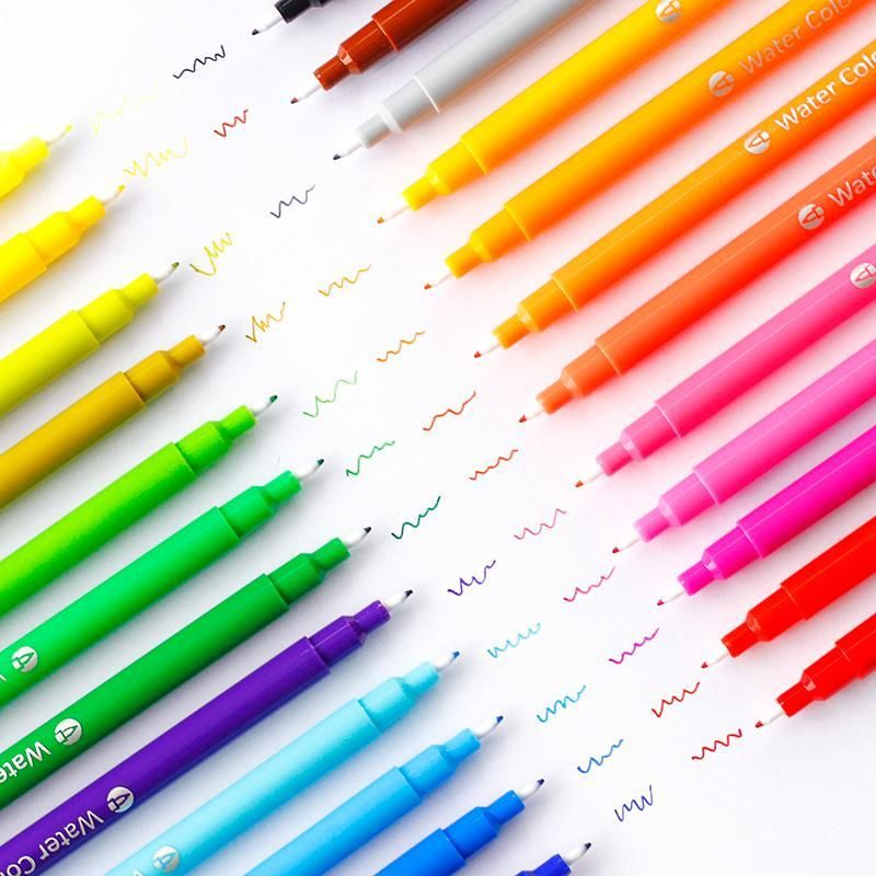12 24pcs Washable Watercolor Pen Kiniyo Pen And Watercolor