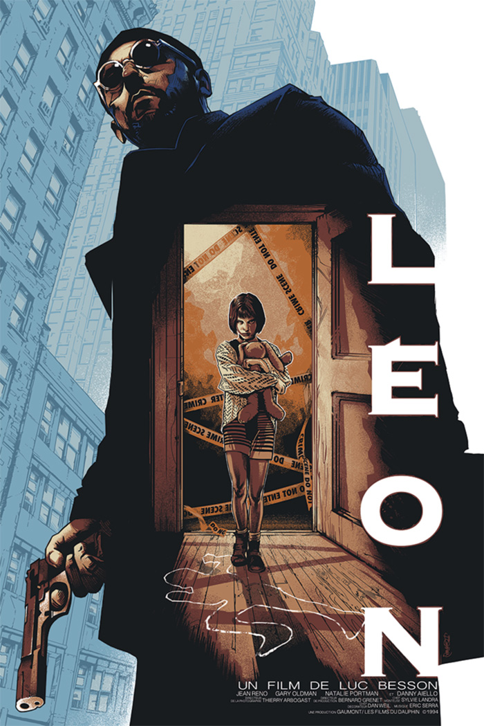 Leon by Barret Chapman - Home of the Alternative Movie Poster -AMP-