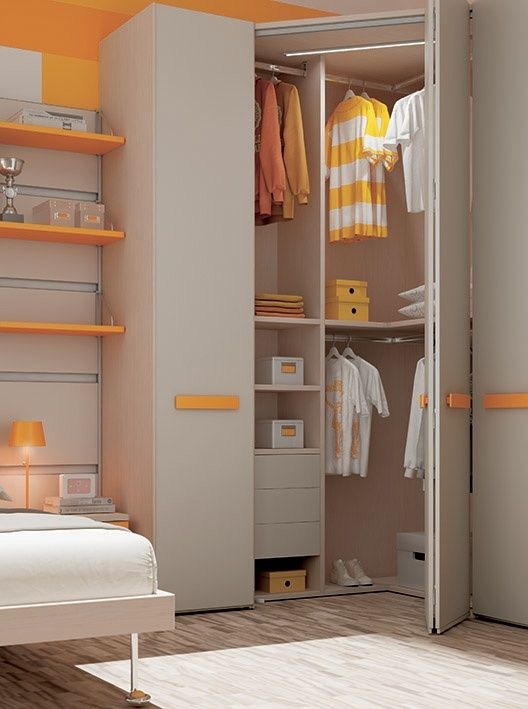 armario sak colores design fun kids orange closet - Modular Armarios