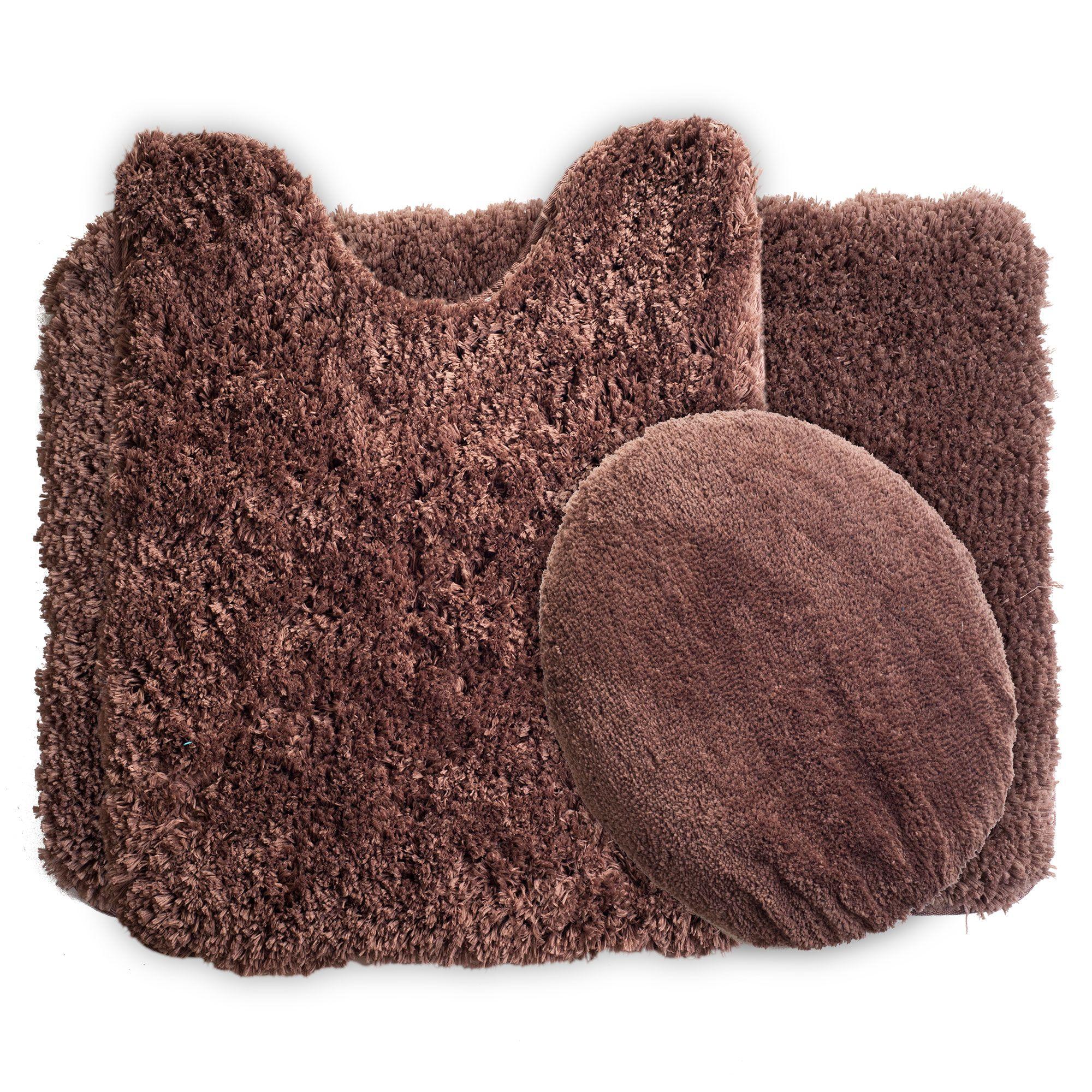 6 Piece Super Plush Non-Slip Bath Mat Rug Set - Kmart  Bath mat