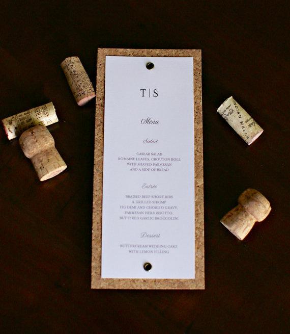 Real Weddings Cork: Wine Themed Wedding Menu