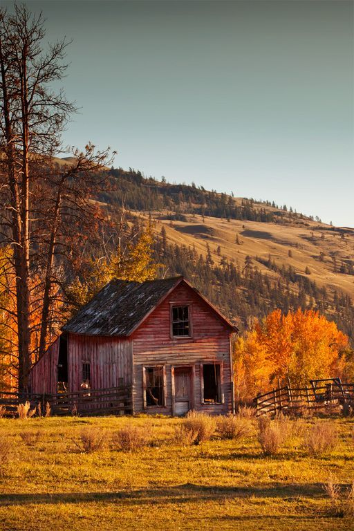Rustic old red barn
