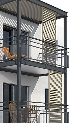 Modern Looking With Sliding Door For Shade Balcony Project Archi