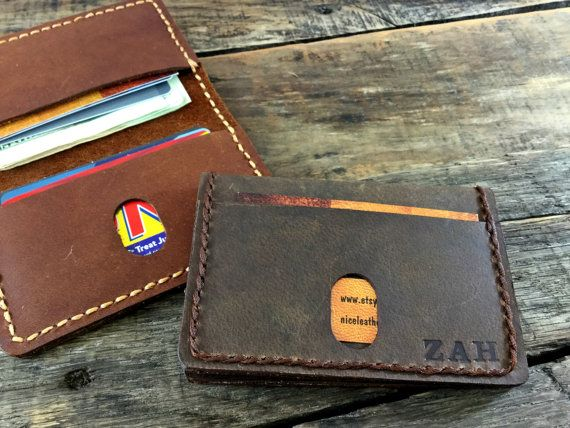 Minimalist Wallet Groomsmen Gift Gift For Him  by NiceLeather1
