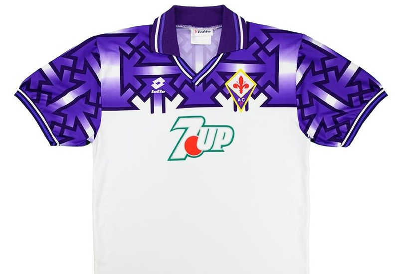 Lotto 1992-93 Fiorentina Away Shirt | Vintage Football Shirts ...