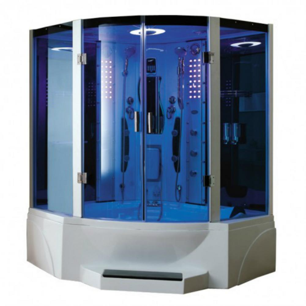 Mesa Combination Steam Shower With Jetted Tub Ws 608p Shower Tub Steam Shower Enclosure Whirlpool Tub