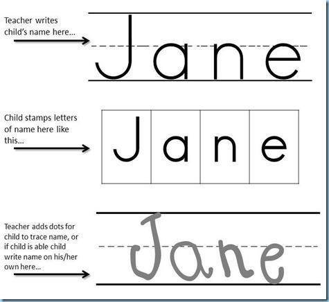 Printing Practice Name Stamping Preschool Printables Writing