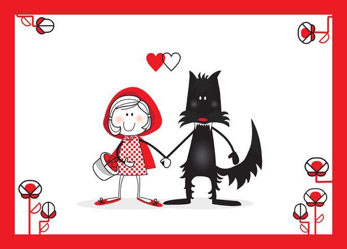 Silvia Saez Ilustraciones Caperucita Roja Frases Pintadas