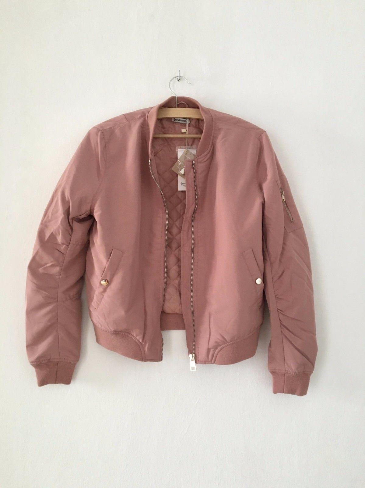 b75fee93c20 Stradivarius Bomber jacket PALE PINK S