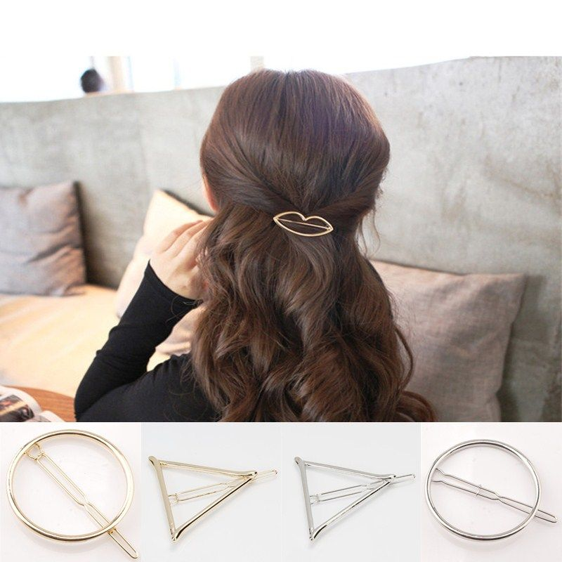 Hair Accessories fashion Bohemia vintage gold color Triangle hairpin hairwear