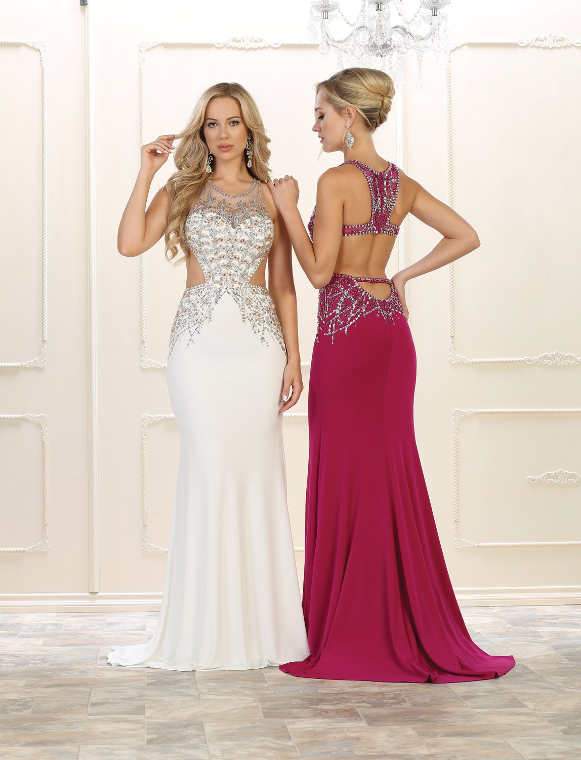 Sexy backless prom dress formal evening gown in products