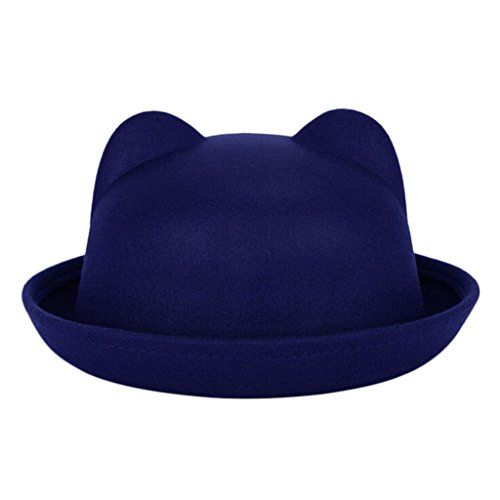 New Winter Fashion Women Devil Hat Cute Kitty Cat Ears Wool Derby Bowler Cap      Read more at the image link. (This is an affiliate link)  63c62d194740