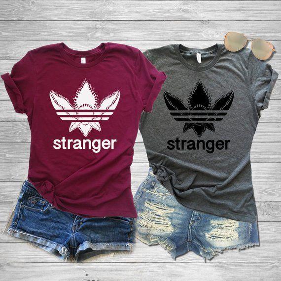 d886e3f0 Demogorgon Adidas Shirt, Adidas Demogorgon Shirt, Stranger Shirt Things, Demogorgon  Shirt