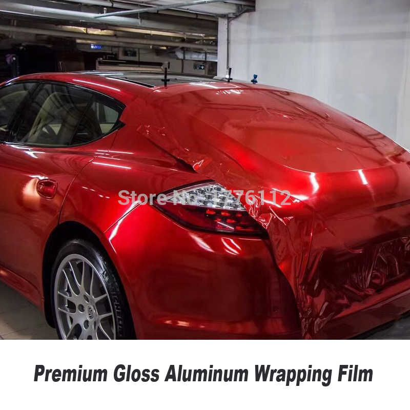 Blood red Gloss vinyl red Vehicle wrapping paper with Air