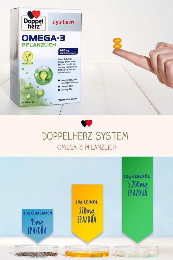 Hochdosiert – 600 mg pflanzliche Omega-3-Fettsäuren DHA und EPA aus ...