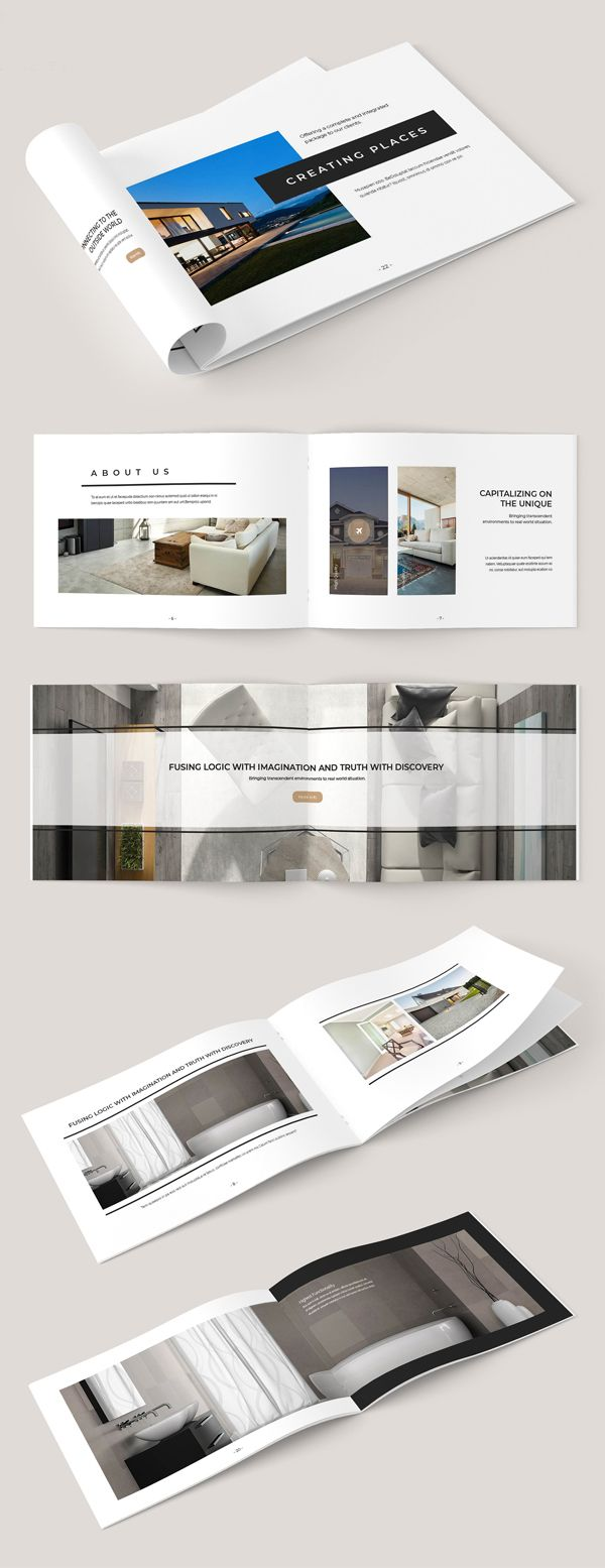 Elegant Brochure Template Reference Prints Banners Pinterest