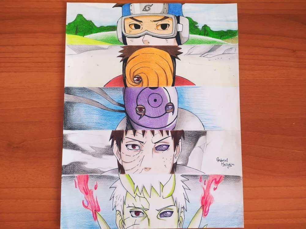 Obito Uchiha Naturo Dibujos A Lapiz Art Uchiha Character