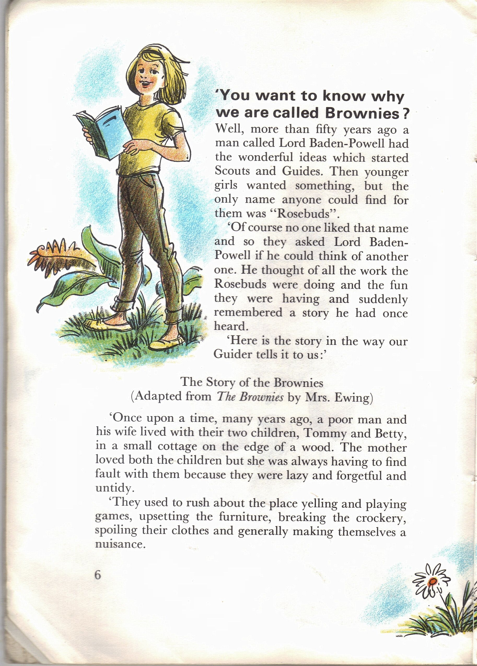 The start of the Brownie Story | Brownie story & Elf | Pinterest