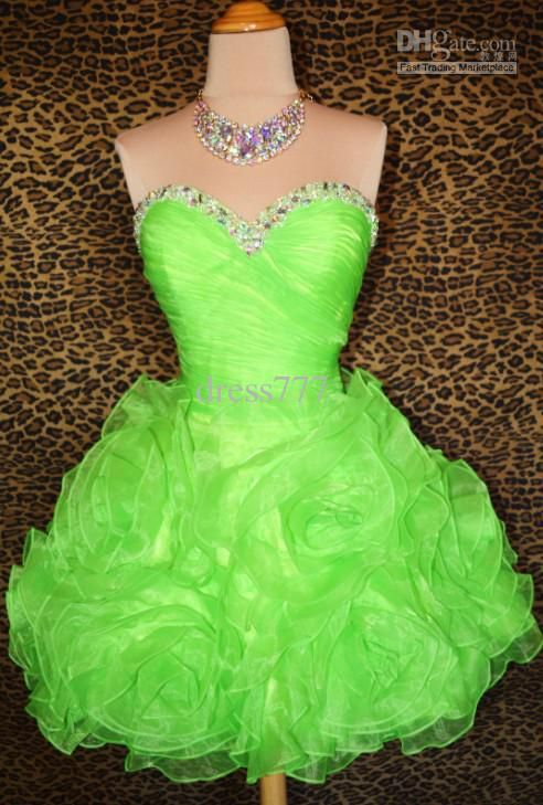 Lime Green Short Prom Dresses - Ocodea.com