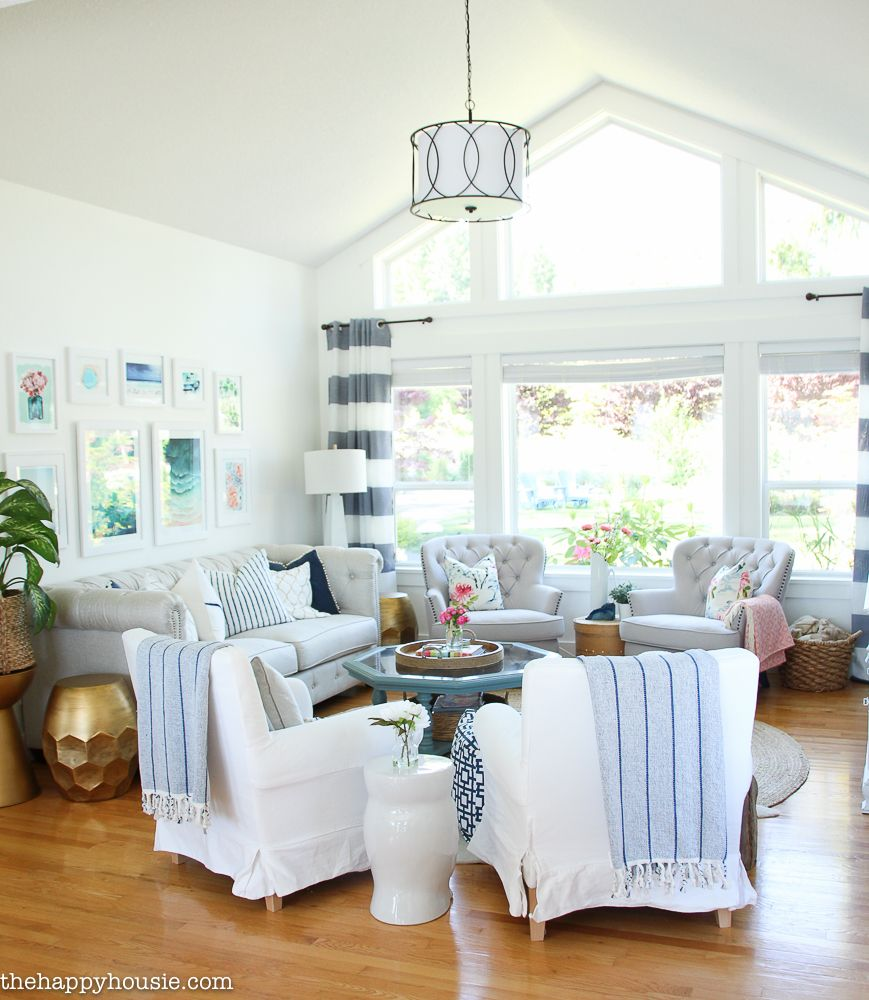 Living Room Makeover Reveal  Coastal Style Coastal And Living Rooms Stunning Living Room Make Over Design Ideas