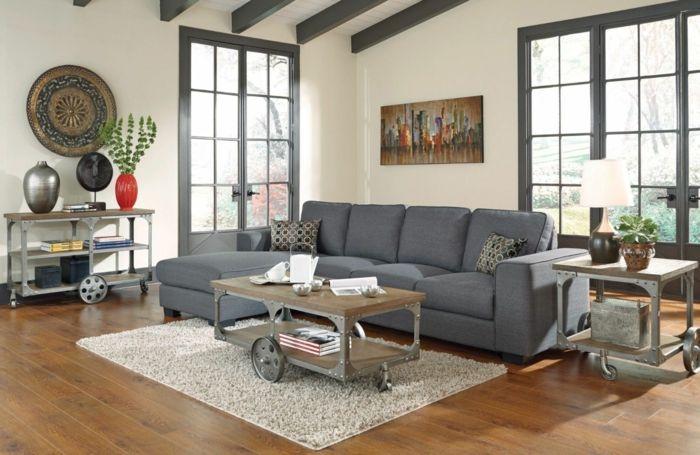 Ausgefallener Couchtisch graues sofa ausgefallener couchtisch räder beistelltisch