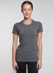 The Everyday Tee in charcoal. Crafted from an ultra-soft blend of nylon, polyester and spandex, this relaxed t-shirt embraces your curves and keeps you feeling fresh.  Shop this and other styles at www.coryvines.com