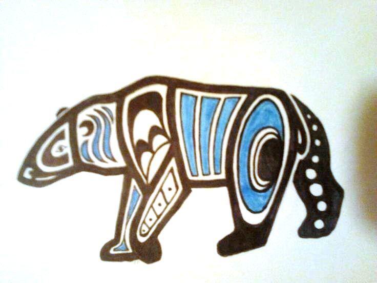 Polar Bear Tribal Tattoo | tattoos | Pinterest | Bear ...
