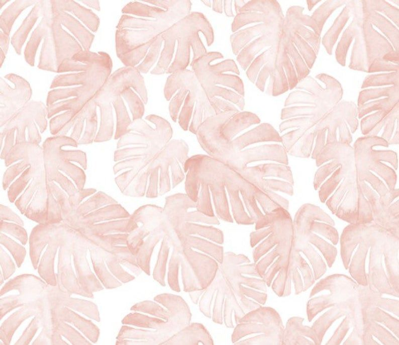 Blush Watercolor Tropical Fitted Crib Sheet or Changing Pad   Etsy