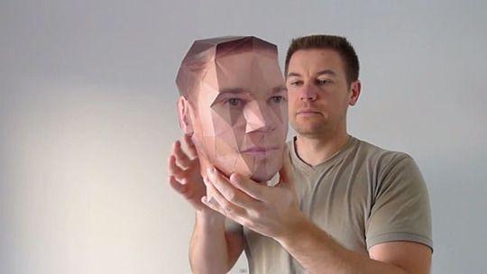 How To Make Your Own 3d Paper Model Head Paper Models 3d Paper 3d Paper Art