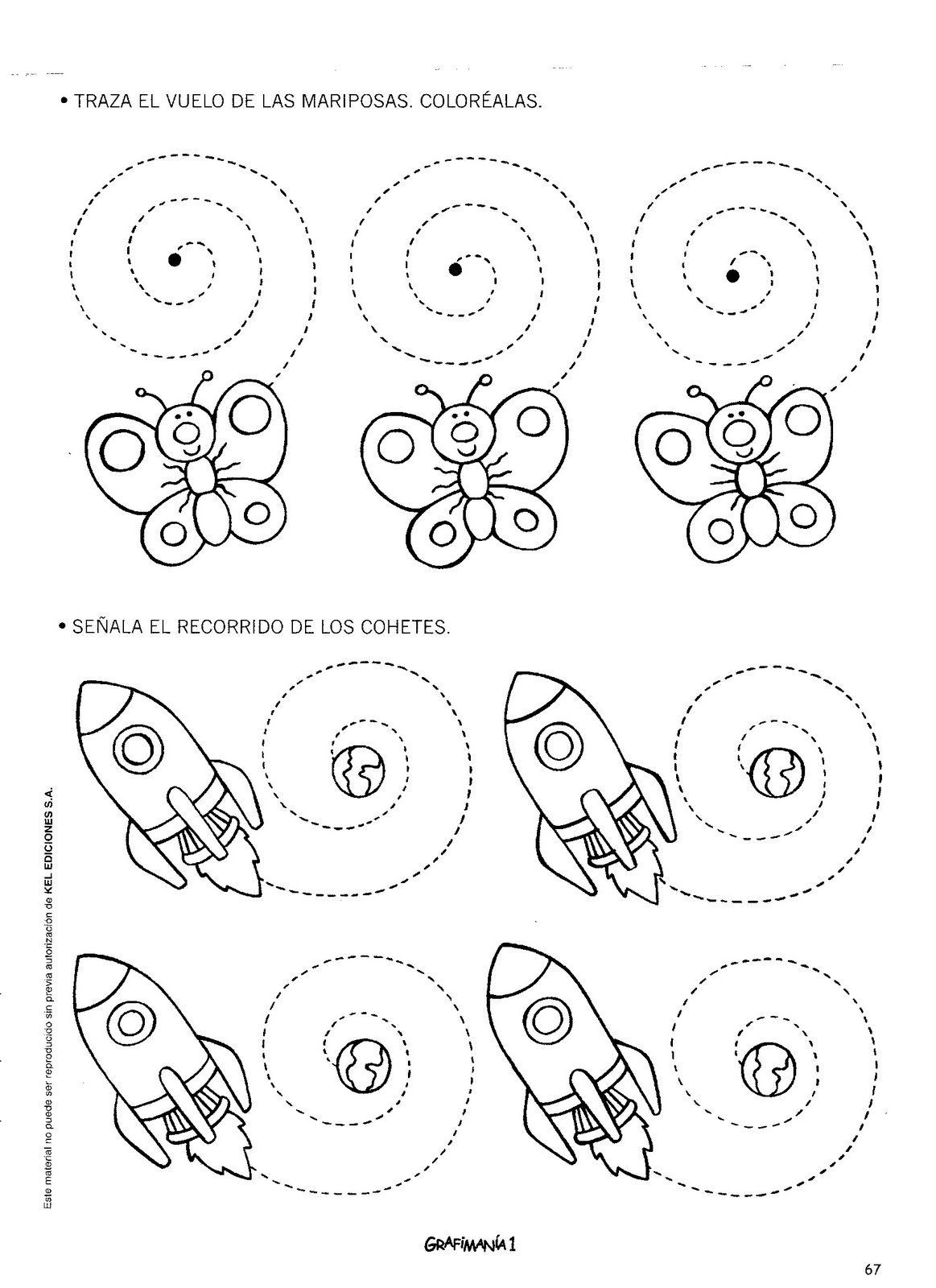 Rocket ship and butterfly | preschool | Pinterest | Arbeitsblätter ...
