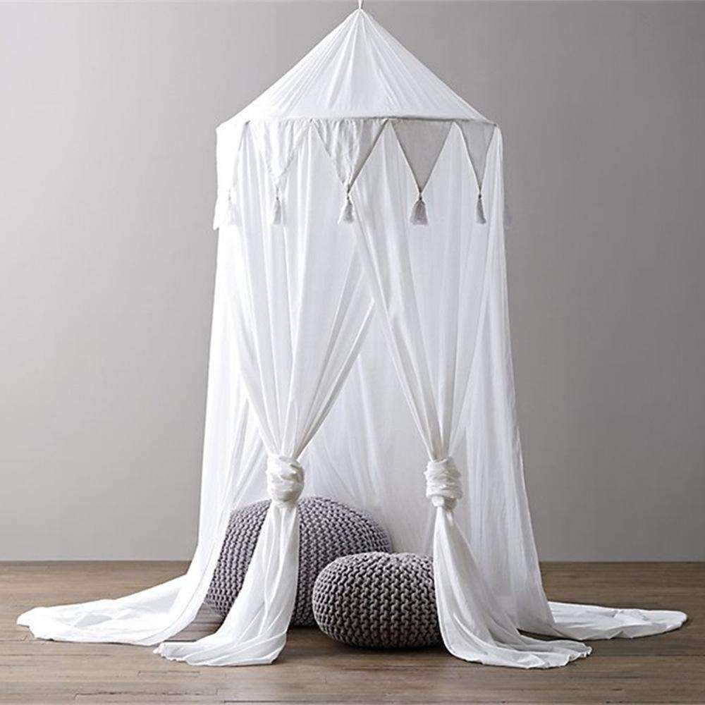 Kids Room Bedding Mosquito Net Romantic Round Bed Gentle Net Bed Cover Hung Dome Bed Canopy Prevent Mosquitoes Insects Dust Matching In Colour Crib Netting Baby Bedding