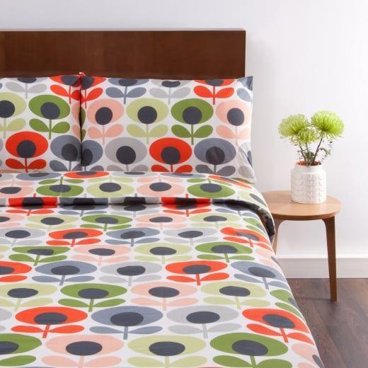 Orla Kiely Multi Flower Oval Tomato Double Duvet Cover Quality Duvet Covers Red Duvet Cover Duvet Sets