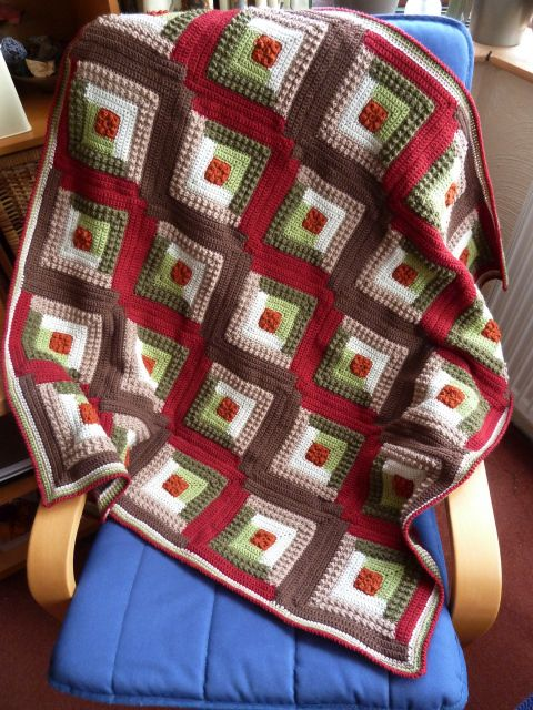 Ravelry: Autumn Log Cabin Throw ~ free pattern by Coats & Clark ...