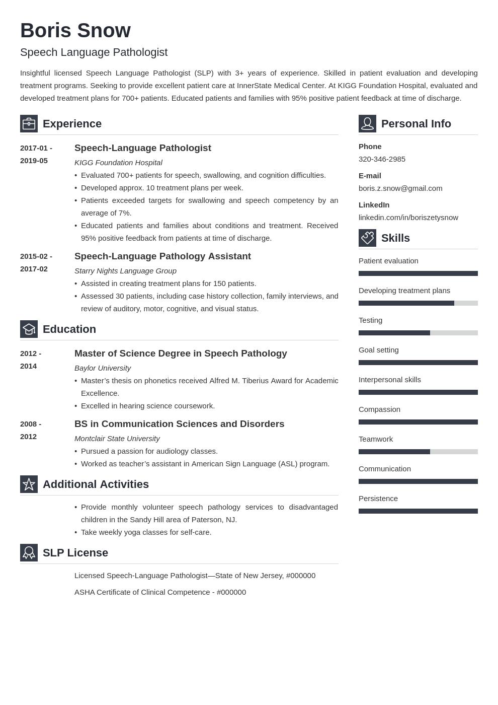 Speech Pathologist Resume Example Template Vibes Career Change Resume Resume Examples Job Resume Examples