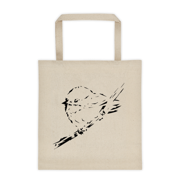 Black and White Chickadee - Tote bag