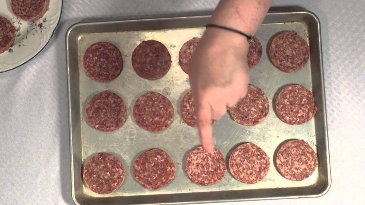 Breakfast sausage patties done in the oven sausages in