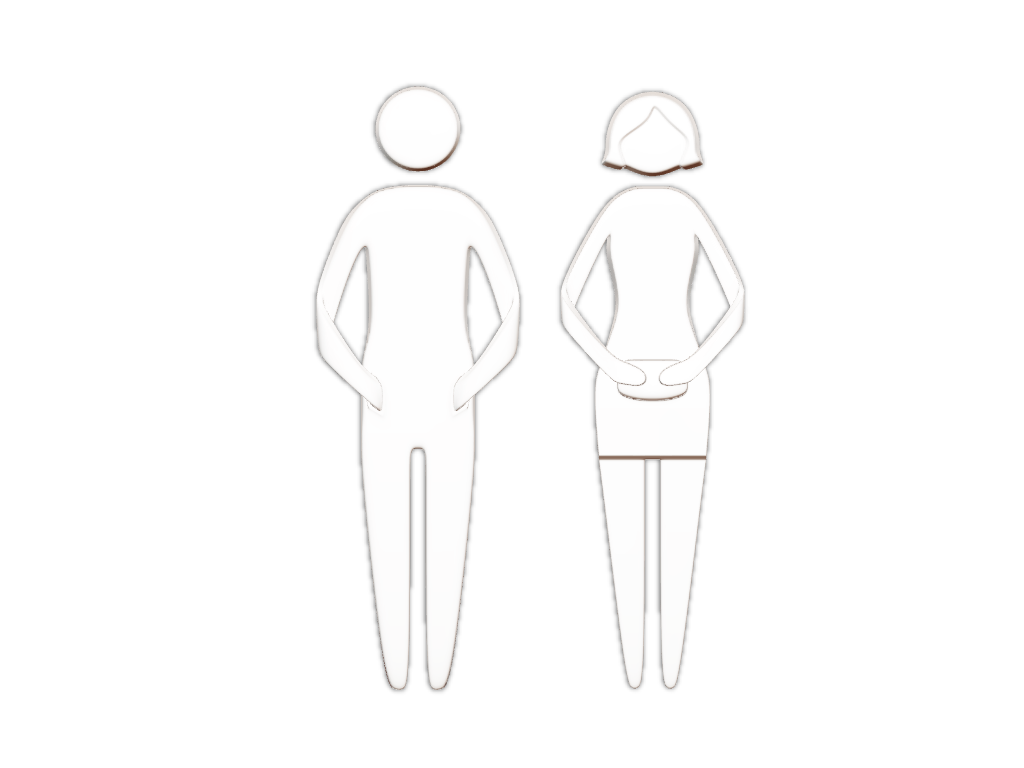 Toilet signs - pictograms ready to be 3D printed.