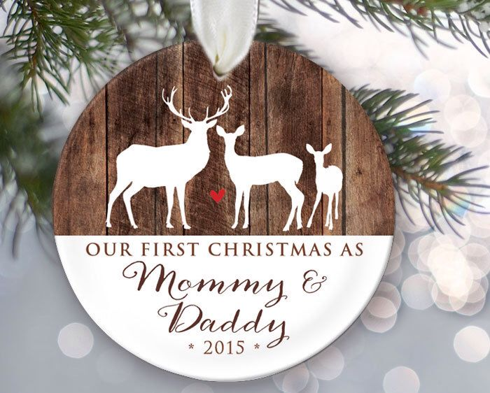 Our First Christmas as Mommy & Daddy Personalized Christmas ...