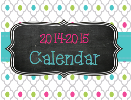2014 and 2015 calendars