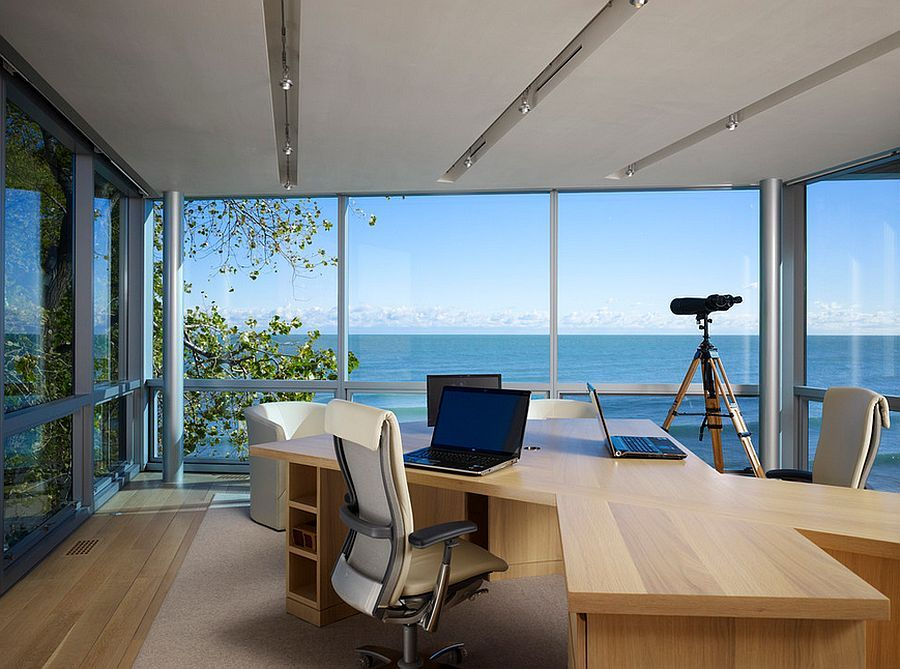 12 Remarkable Home Offices With An Ocean View Office With A View