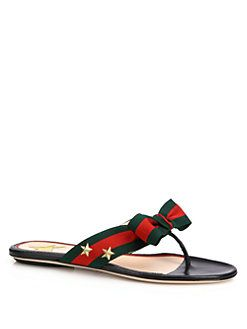 a6feb2af0591 Gucci - Aline Grosgrain Web Thong Sandals