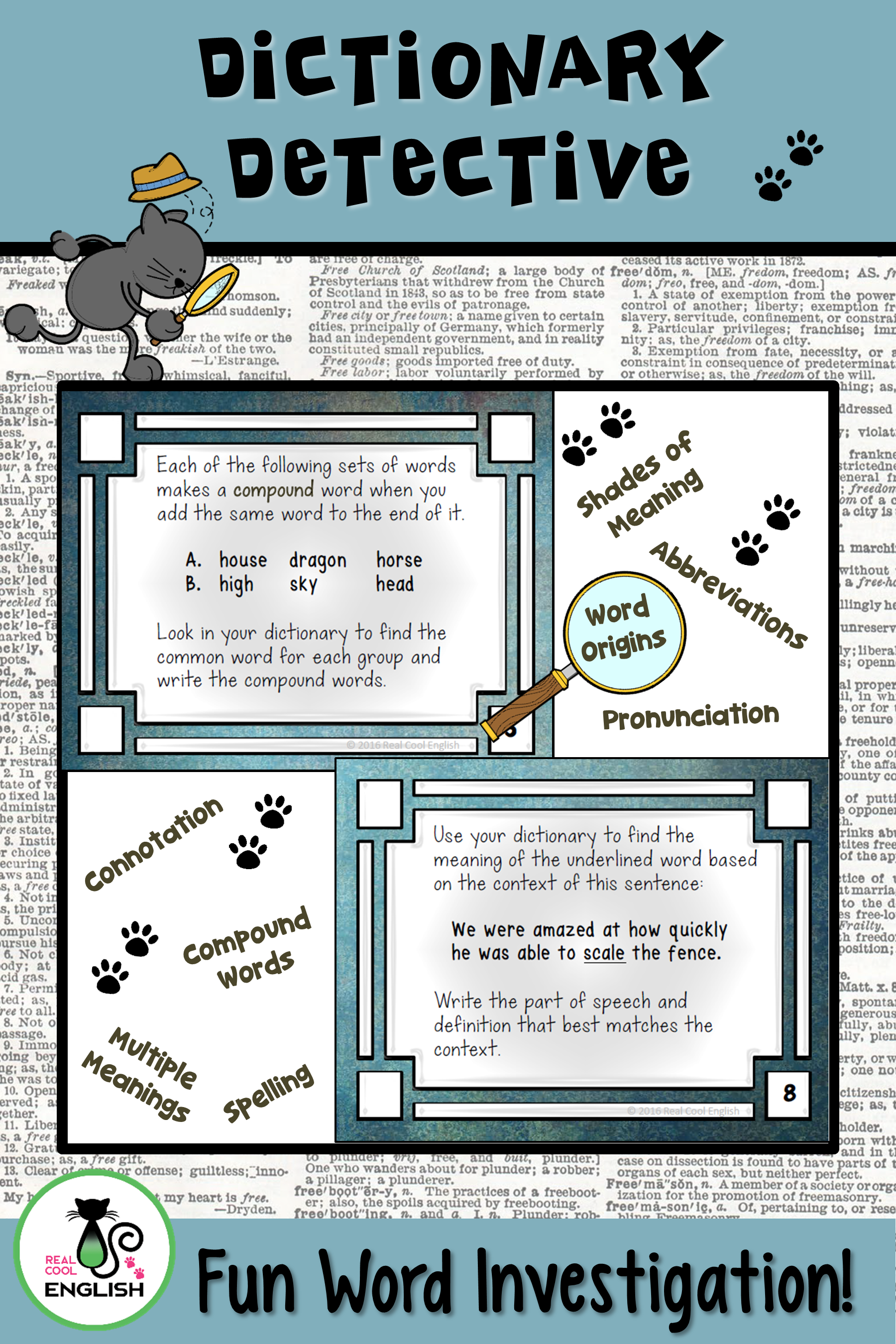 Worksheet To Teach Dictionary Skills   Printable Worksheets and Activities  for Teachers [ 2700 x 1800 Pixel ]