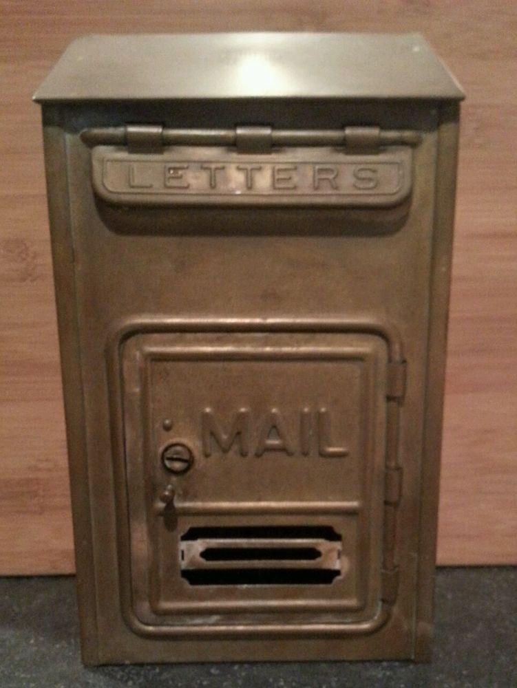 Vintage, Corbin Lock Co., Brass Mailbox, New